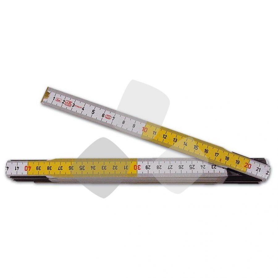 Doppiometro Legno Bianco/giallo Stanley 10 Aste