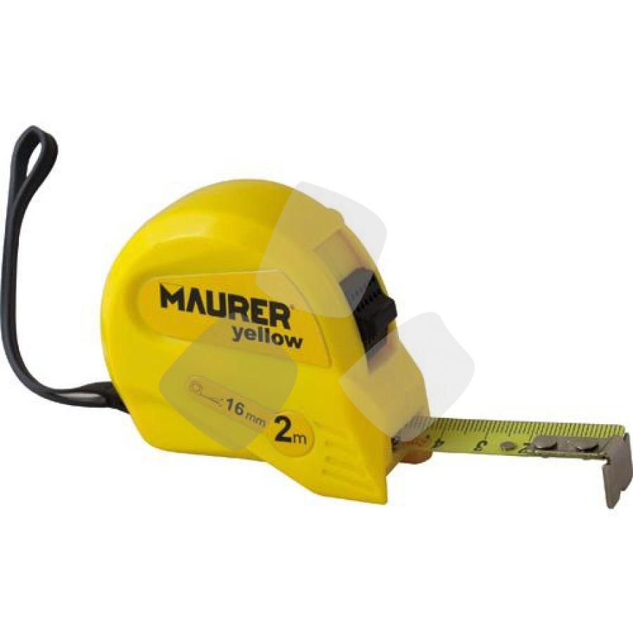 Flessometro Maurer Yellow 2mt 13mm - Cf. In Blister