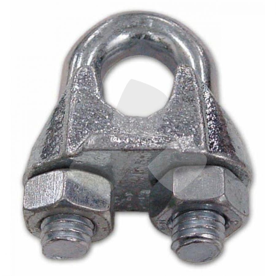 """Morsetto A Cavallotto Zincato Mm.3 diametro interno 1/8"""" mm. 100 PZ"""