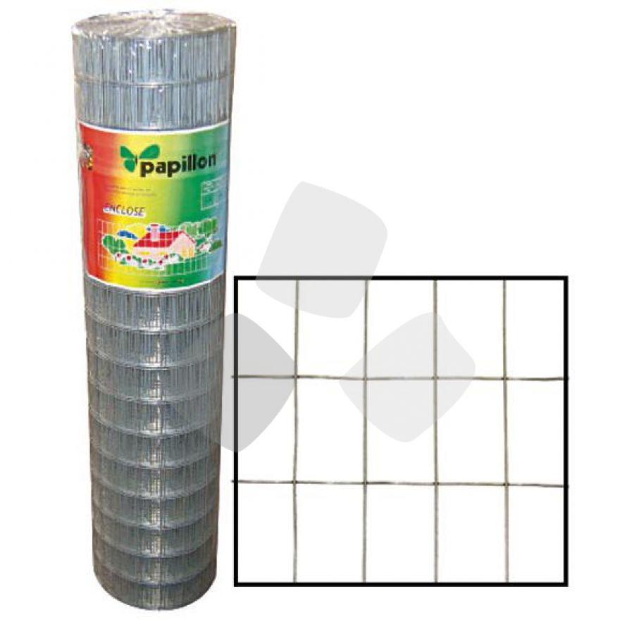 Rete Papillon Enclose 50x75mm H100cm 25mt Zincata Filo 1,8