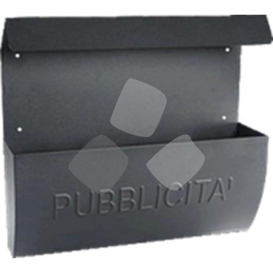 Cassetta Pubblicita' Maurer acciaio verniciato Antracite 38x10x35h Cm