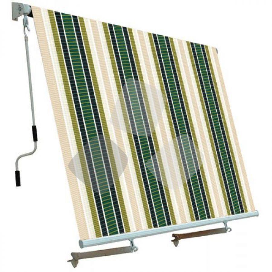 Tenda Da Sole A Caduta Fantasia Ecru'/verde 2,50x2,50mt Papillon