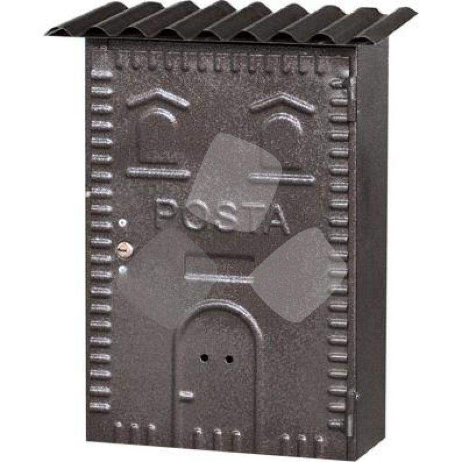 """CASSETTA POSTALE per esterni """"83"""" ferro battuto bronzo"""