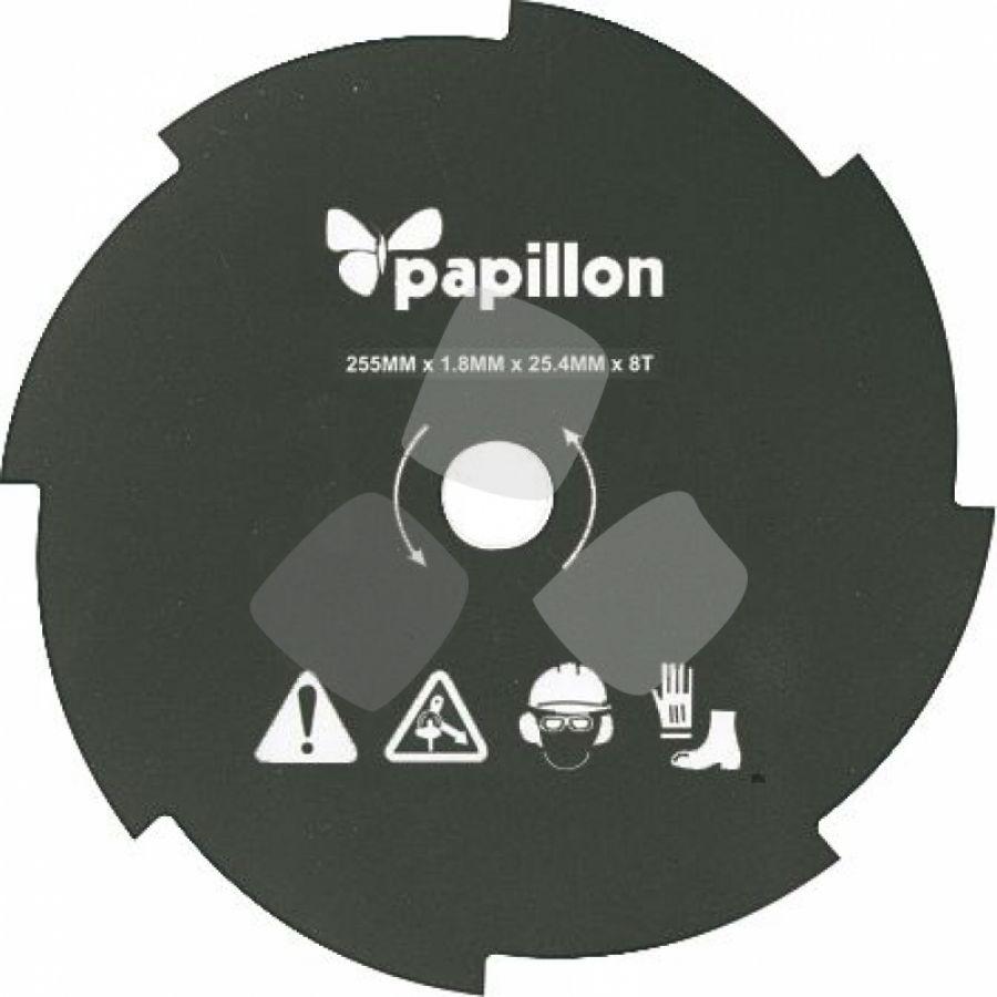 Disco Acciaio X Decespugliatore 8 D.-255mm Papillon - Cf. In Scatola