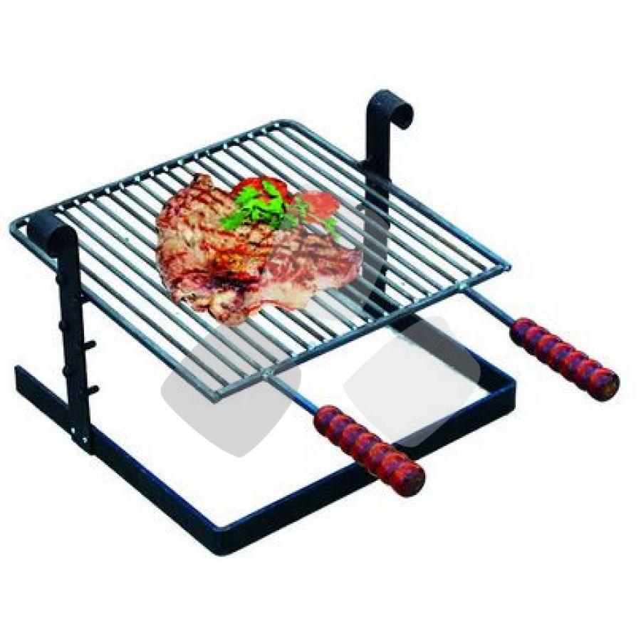 Griglia X Barbecue In Ferro Battuto 40x40cm (54/d)