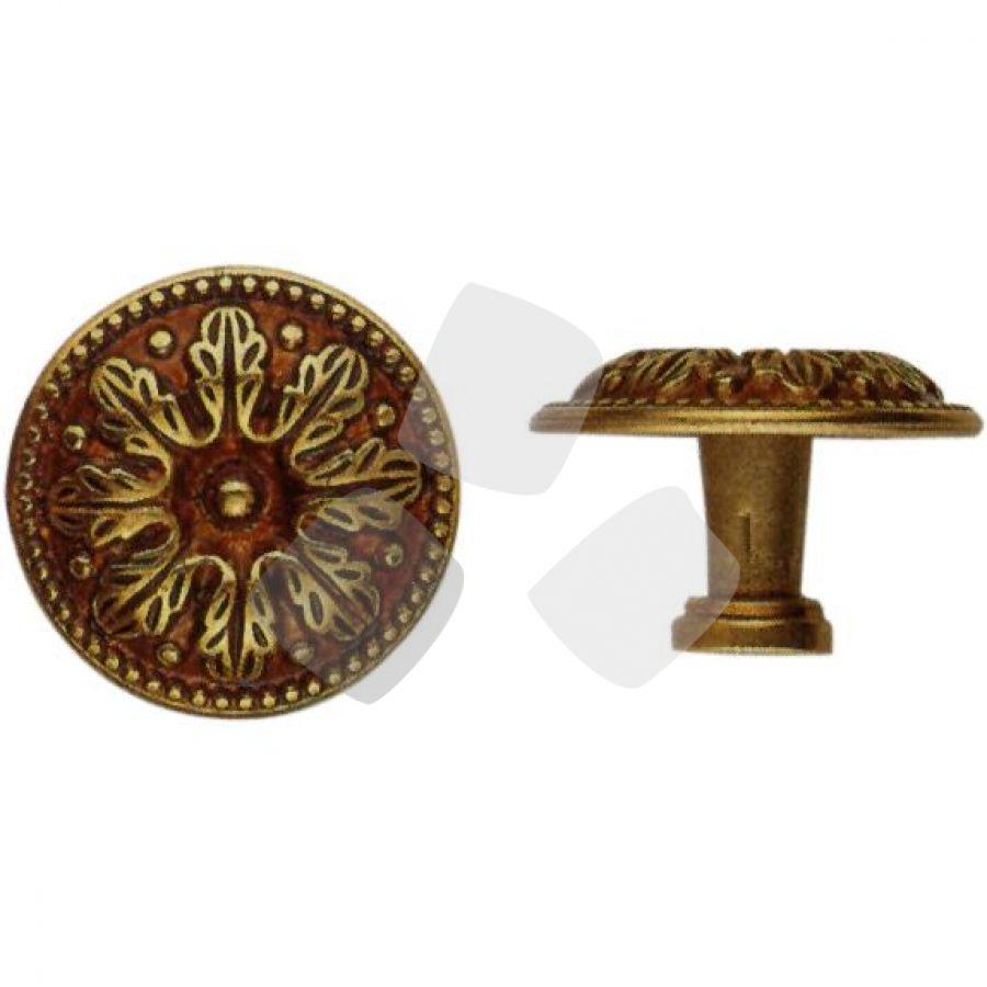 POMOLO per mobili oro patinato 24479 misura 25mm.