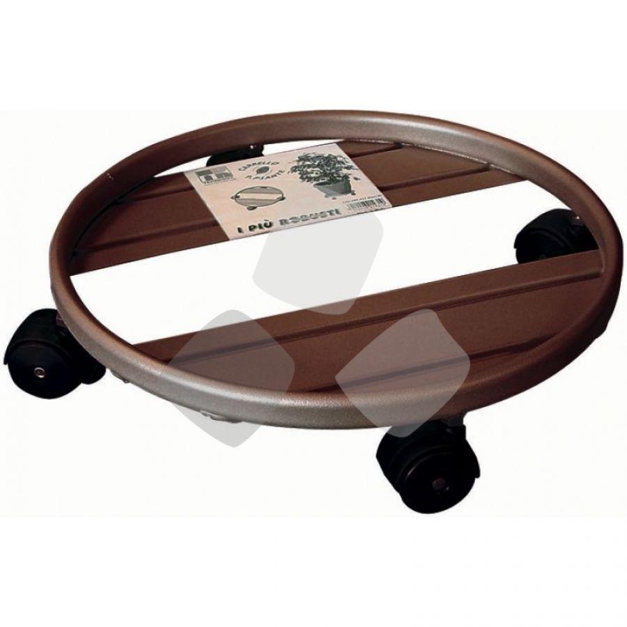 Portavaso In Metallo � 30cm C/ruote
