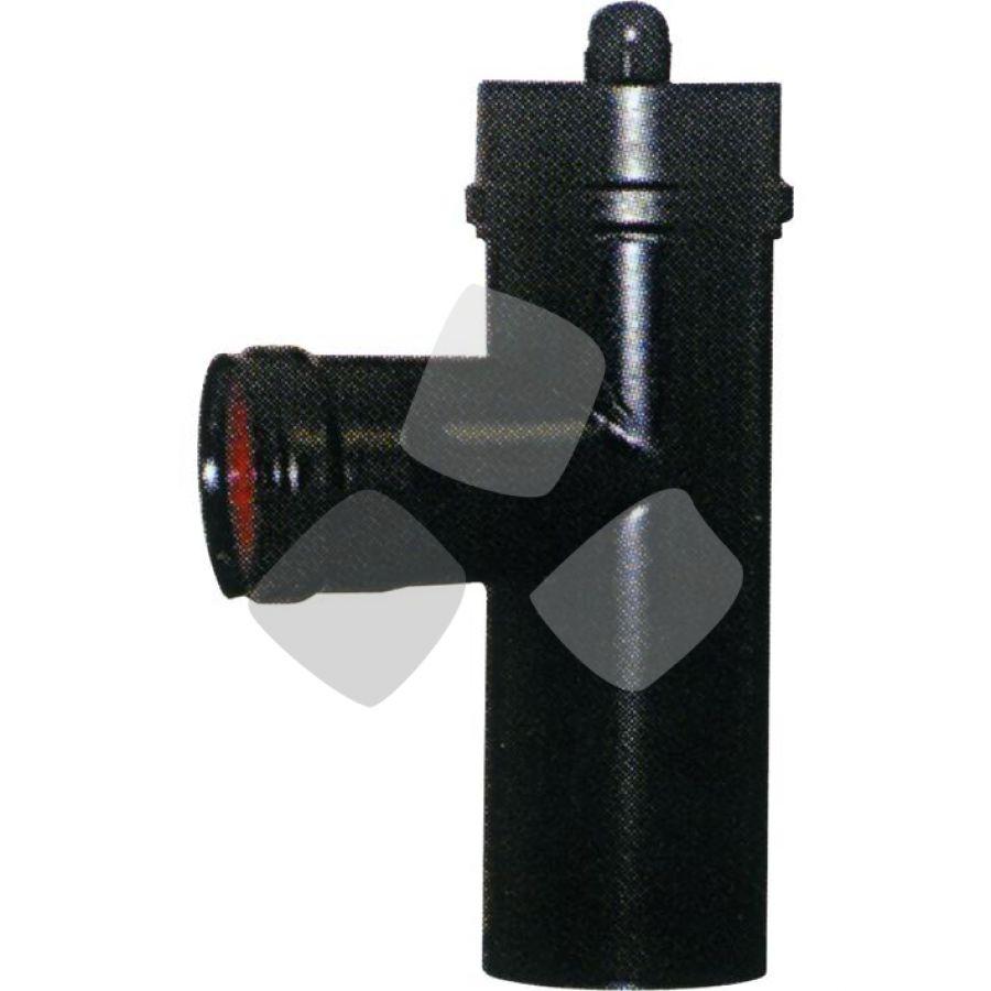 Raccordo A T X Stufa Pellet Nero Sp.1 C/guanizione 8mm.