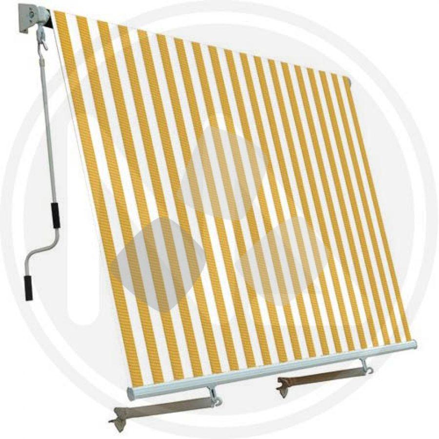 Tenda Da Sole A Caduta Bianco/giallo 2,50x2,50mt Papillon
